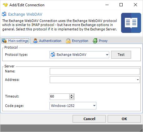 Connection - Exchange WebDAV