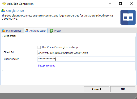 Connection - Google Drive
