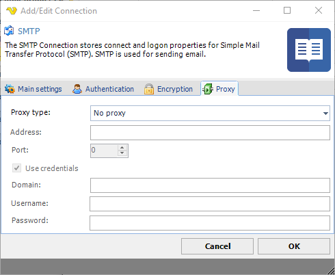 Connection - SMTP
