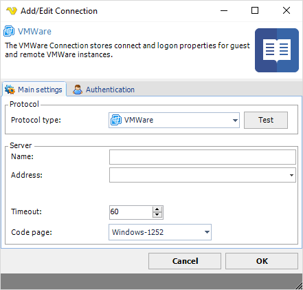 Connection - VMWare