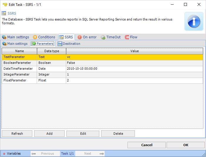 Task Database - SSRS