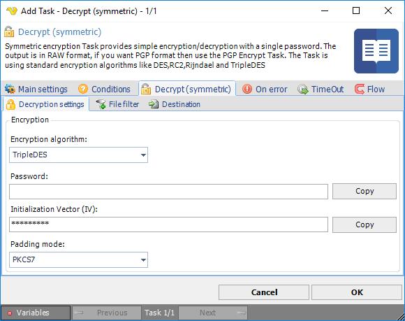 Task Encryption - Decrypt (symmetric)