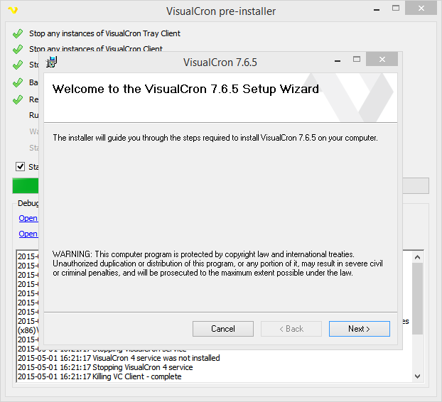 Get VisualCron > Download, Install, Upgrade and Uninstall