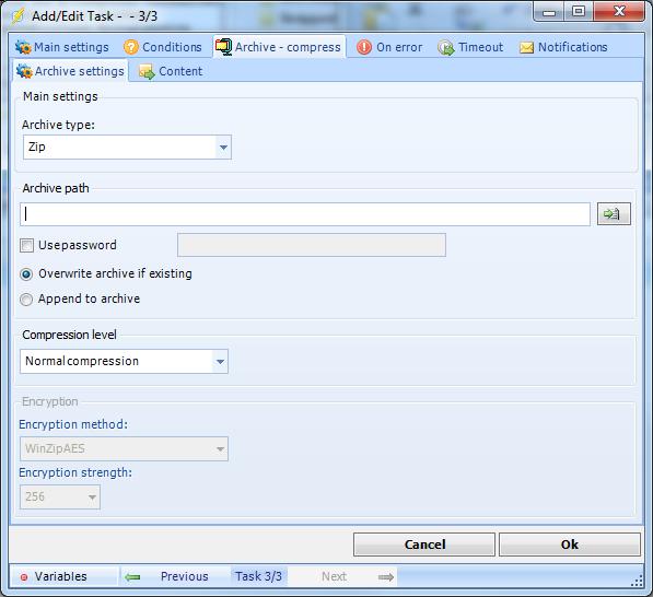 Client User Interface > Main menu > Server > Main - Jobs