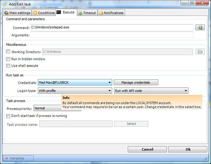 Client User Interface > Main menu > Server > Global