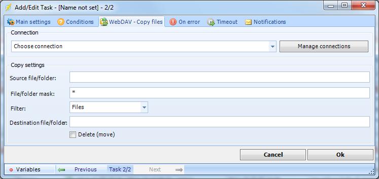 Client User Interface > Main menu > Server > Main - Jobs > Job