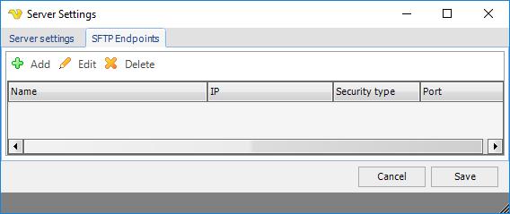 Settings - MFT Server