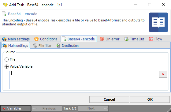 Task File - Base64 - encode