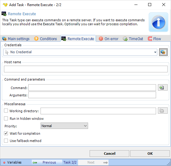 Task Process - Remote Execute