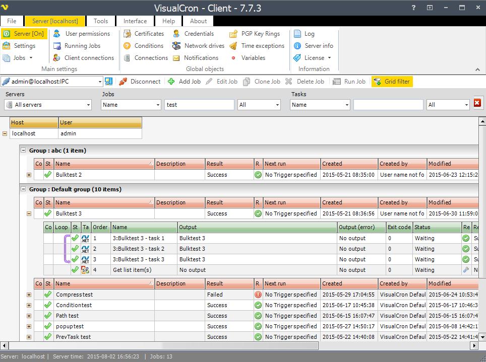 Visualcron Enterprise Job Scheduler Software Batch