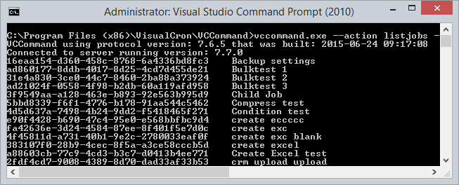 VisualCron - API - Application Programming Interface