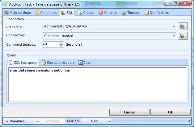 Execute SQLs, stored procedures or SQL Jobs with the SQL Task.