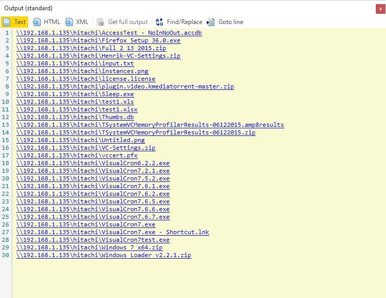 VisualCron screenshot