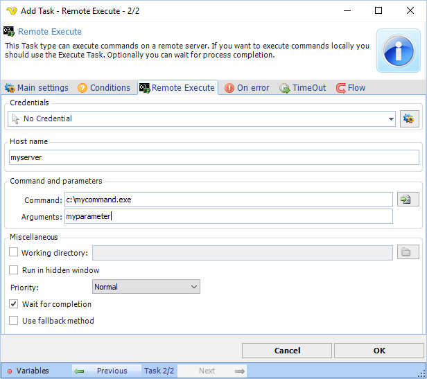 VisualCron - Batch and exe automation